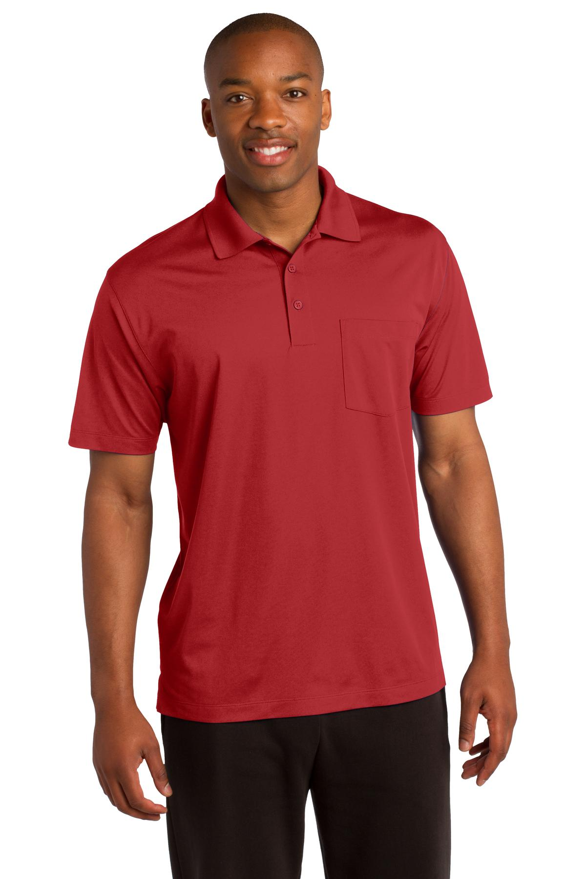 Sport-Tek ®  Micropique Sport-Wick ®  Pocket Polo. ST651 - True Red