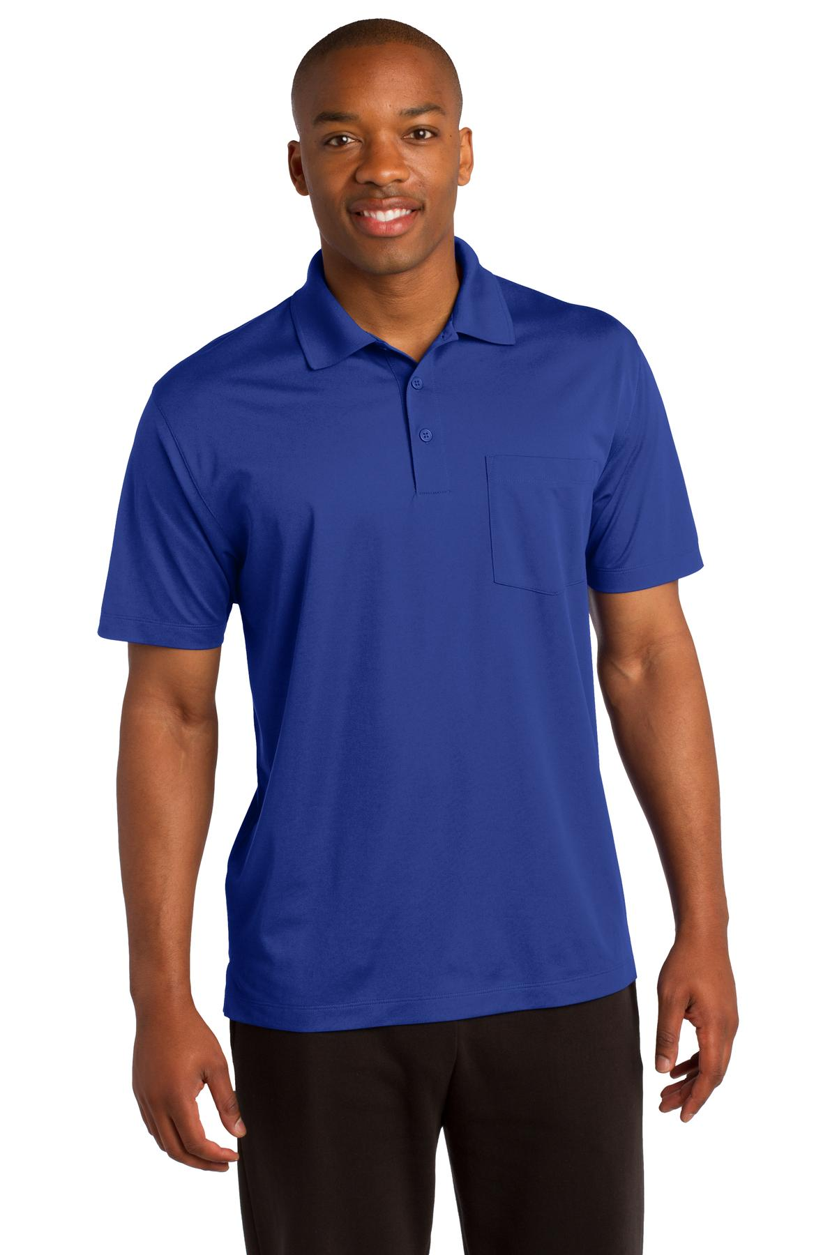 Sport-Tek ®  Micropique Sport-Wick ®  Pocket Polo. ST651 - True Royal