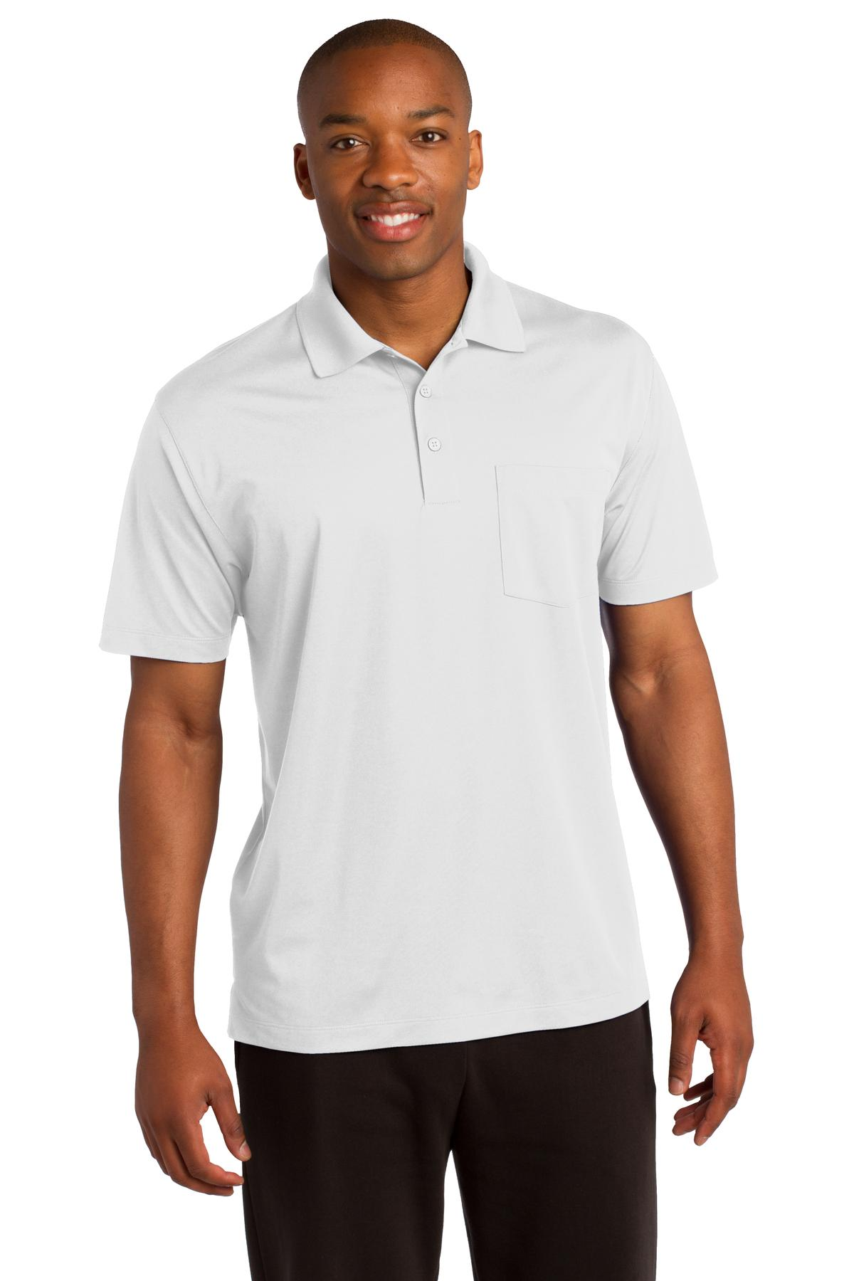 Sport-Tek ®  Micropique Sport-Wick ®  Pocket Polo. ST651 - White