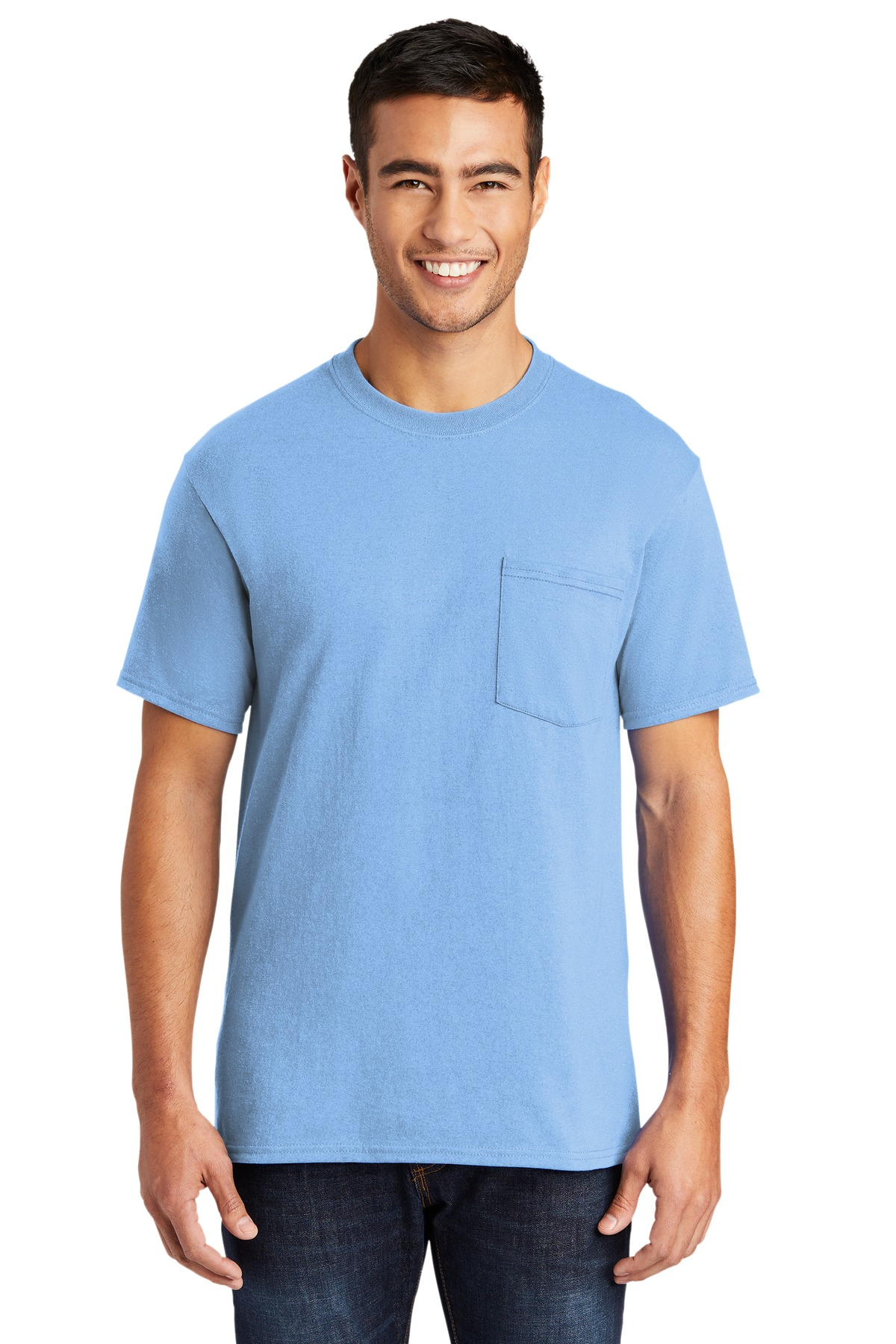 Port and Company Tall Core Blend Pocket Tee. PC55PT