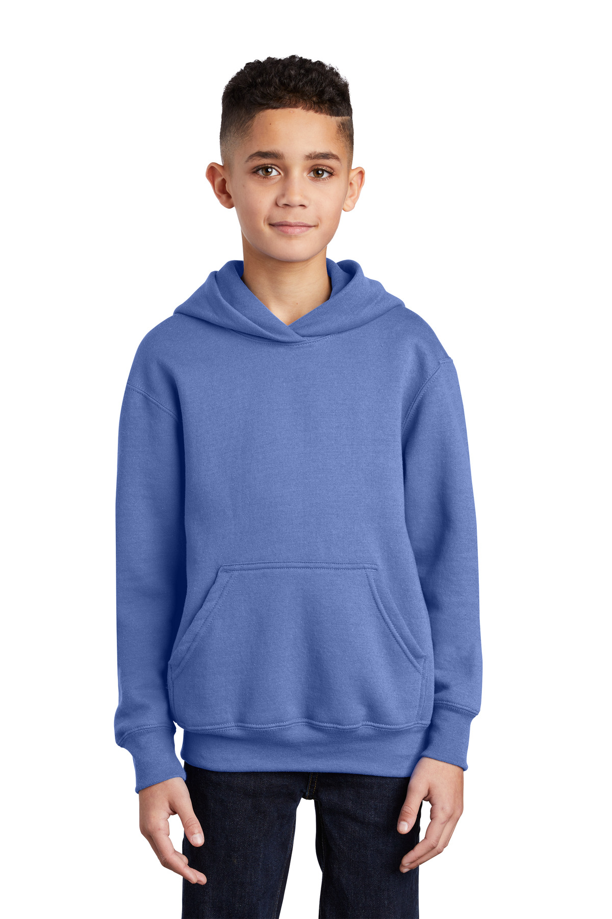 Port & Company ®  - Youth Core Fleece Pullover Hooded Sweatshirt.  PC90YH - Carolina Blue
