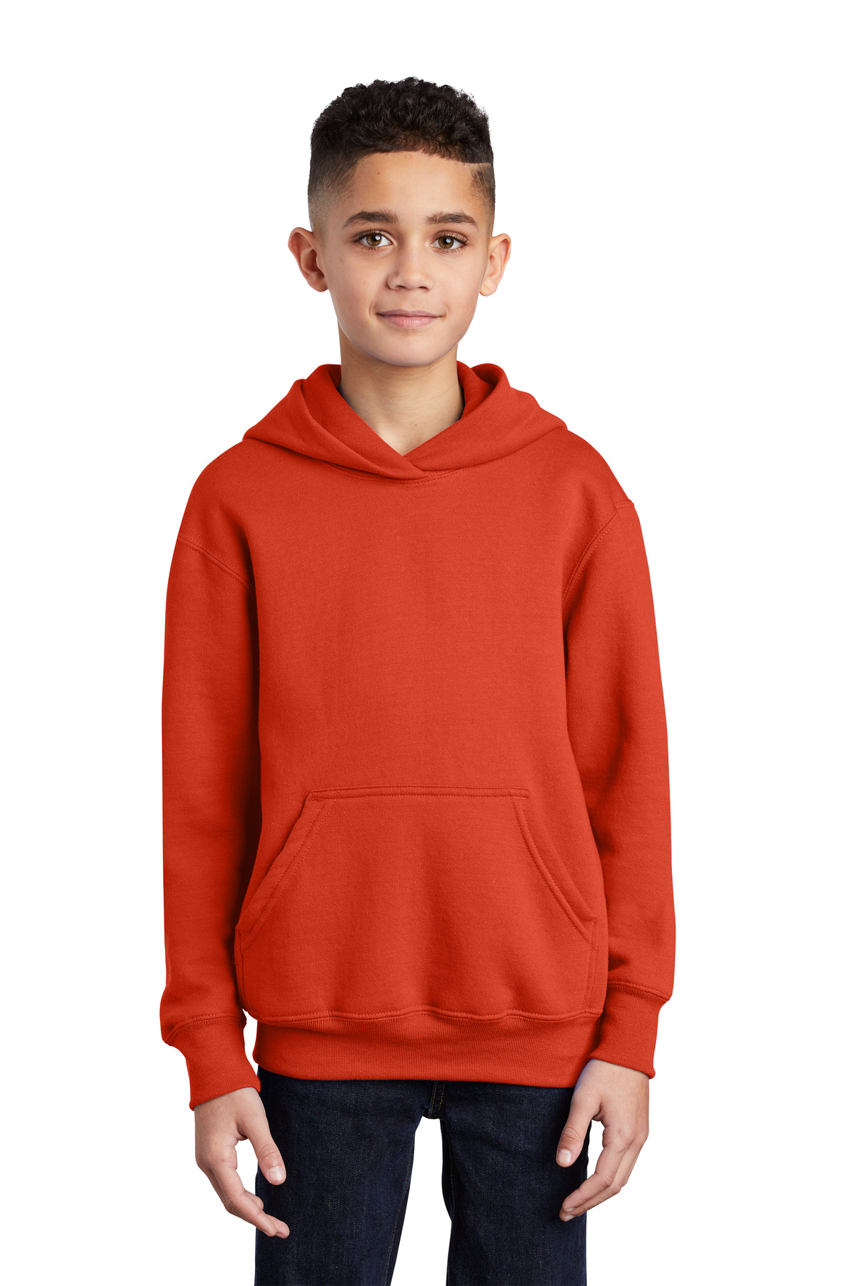 Port & Company ®  - Youth Core Fleece Pullover Hooded Sweatshirt.  PC90YH - Orange
