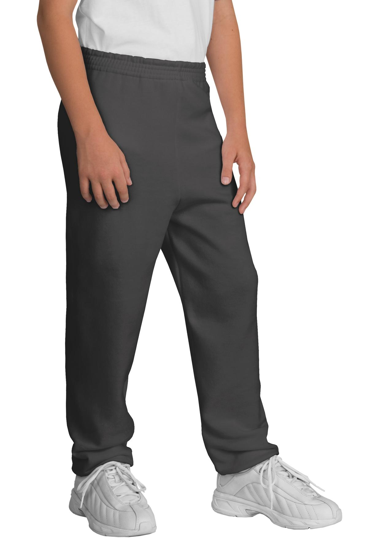 Port & Company ®  - Youth Core Fleece Sweatpant.  PC90YP - Charcoal