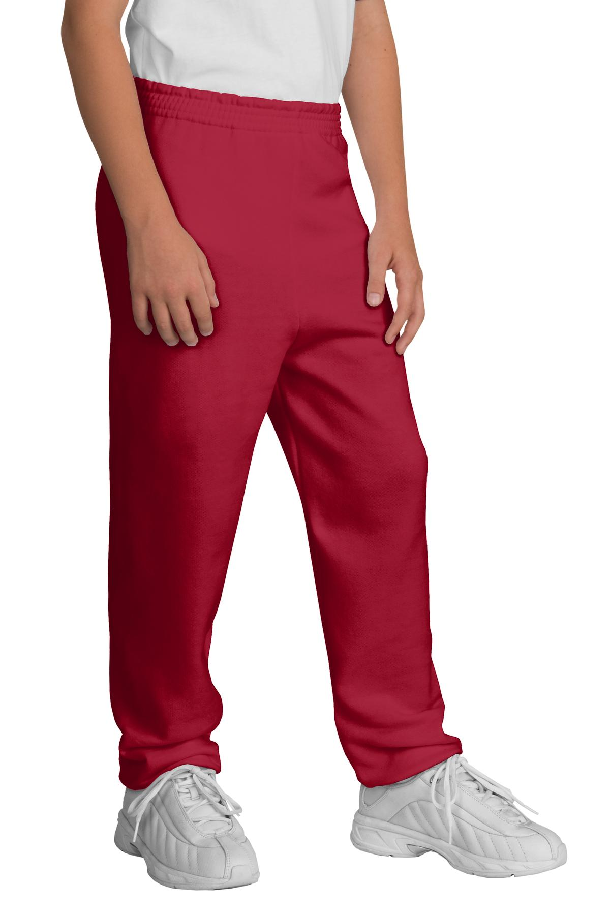 Port & Company ®  - Youth Core Fleece Sweatpant.  PC90YP - Red