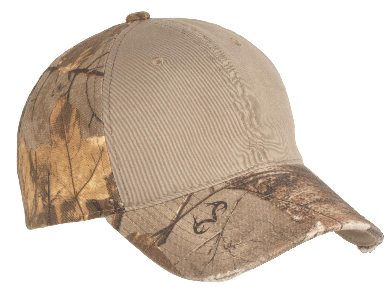 Port Authority ®  Camo Cap with Contrast Front Panel. C807 - Realtree Xtra/ Khaki