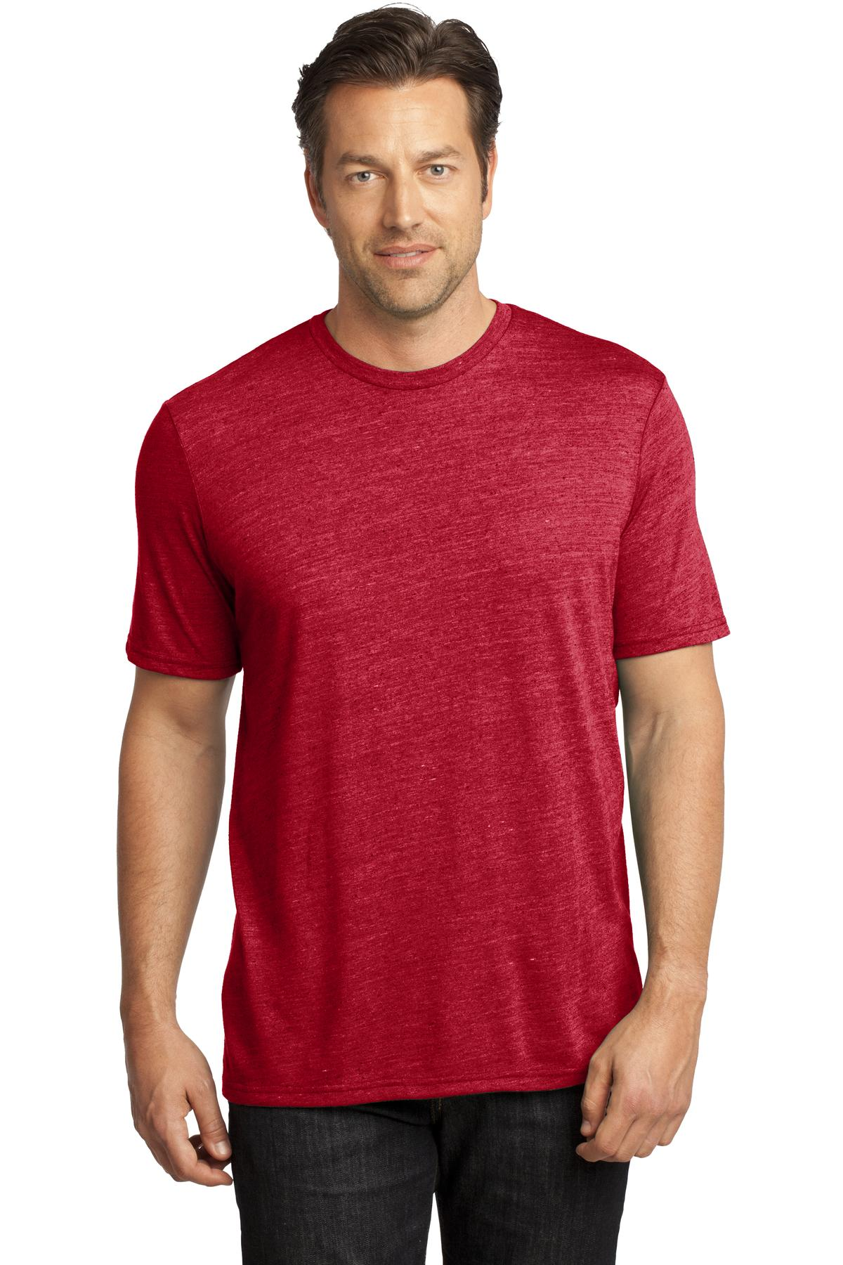 CLOSEOUT District Made - Mens Textured Crew Tee. DM370
