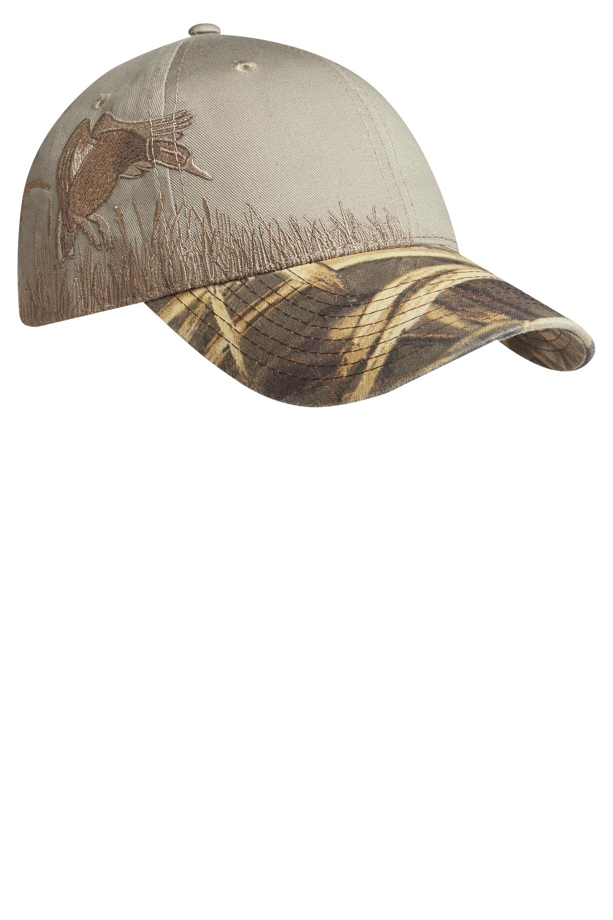 Port Authority ®  Embroidered Camouflage Cap. C820 - Realtree MAX-5/ Khaki/ Duck