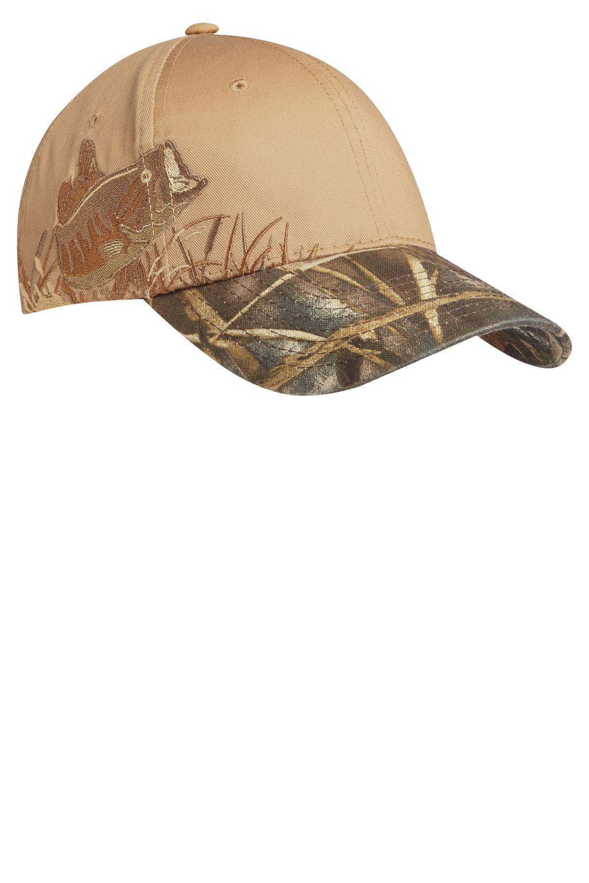 Port Authority ®  Embroidered Camouflage Cap. C820 - Realtree  MAX-5/ Tan/ Bass