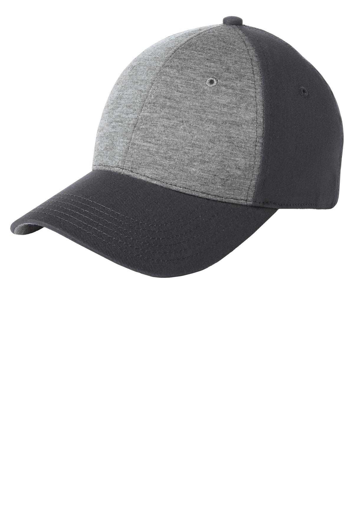 Sport-Tek ®  Jersey Front Cap. STC18 - Vintage Heather/ Iron Grey