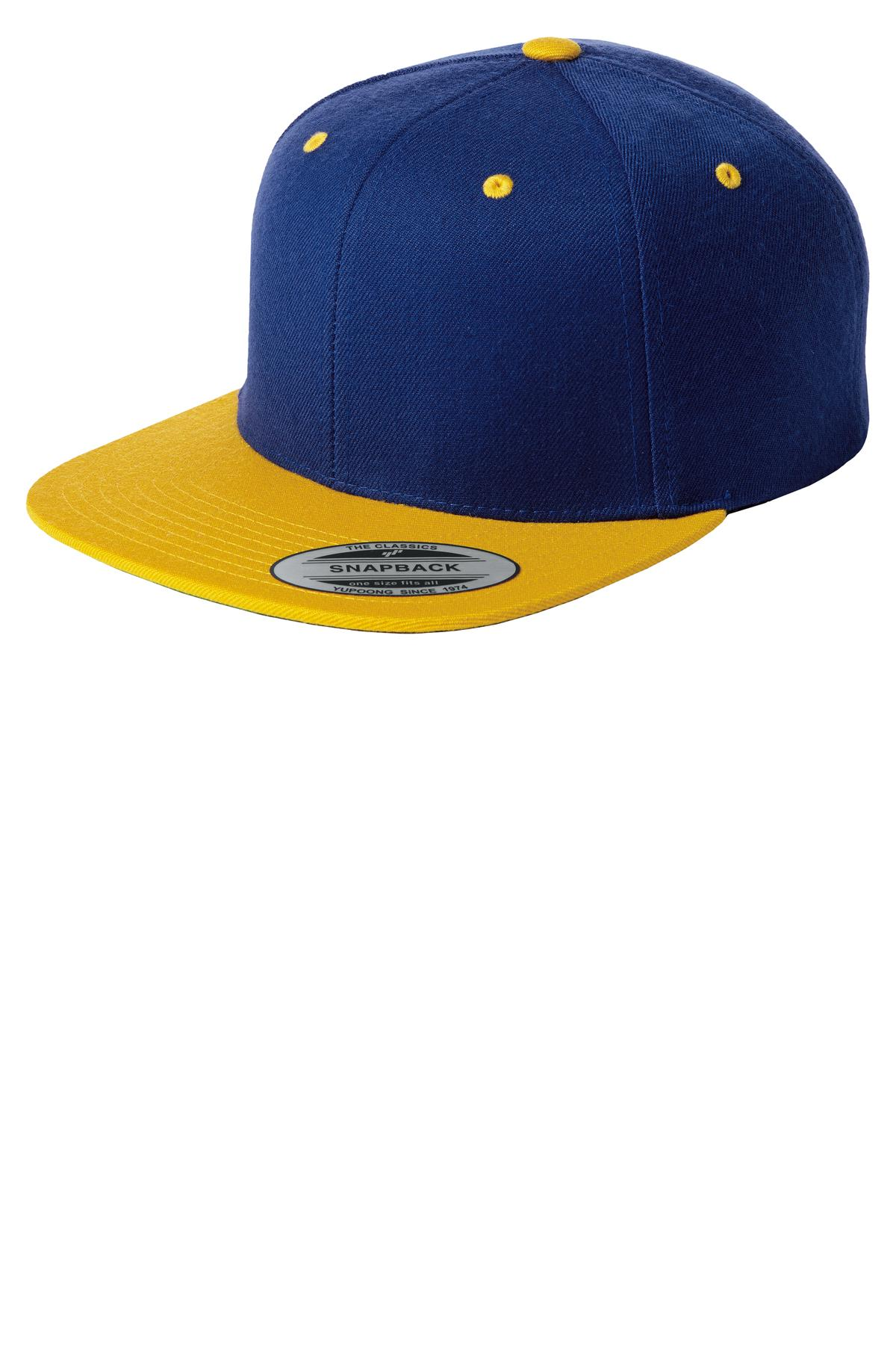 Sport-Tek ®  Yupoong ®  Flat Bill Snapback Cap. STC19 - True Royal/ Gold
