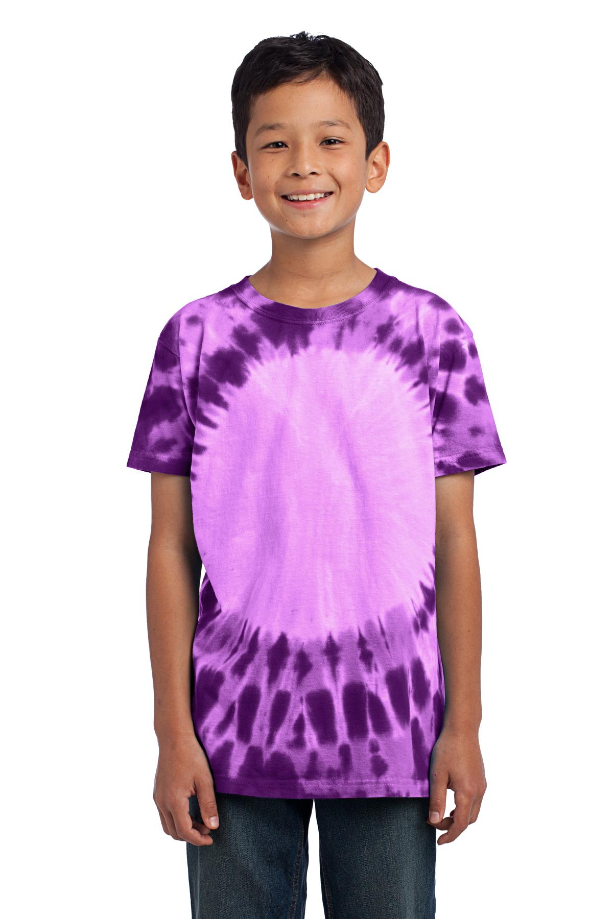 Port & Company ®  - Youth Window Tie-Dye Tee. PC149Y - Purple
