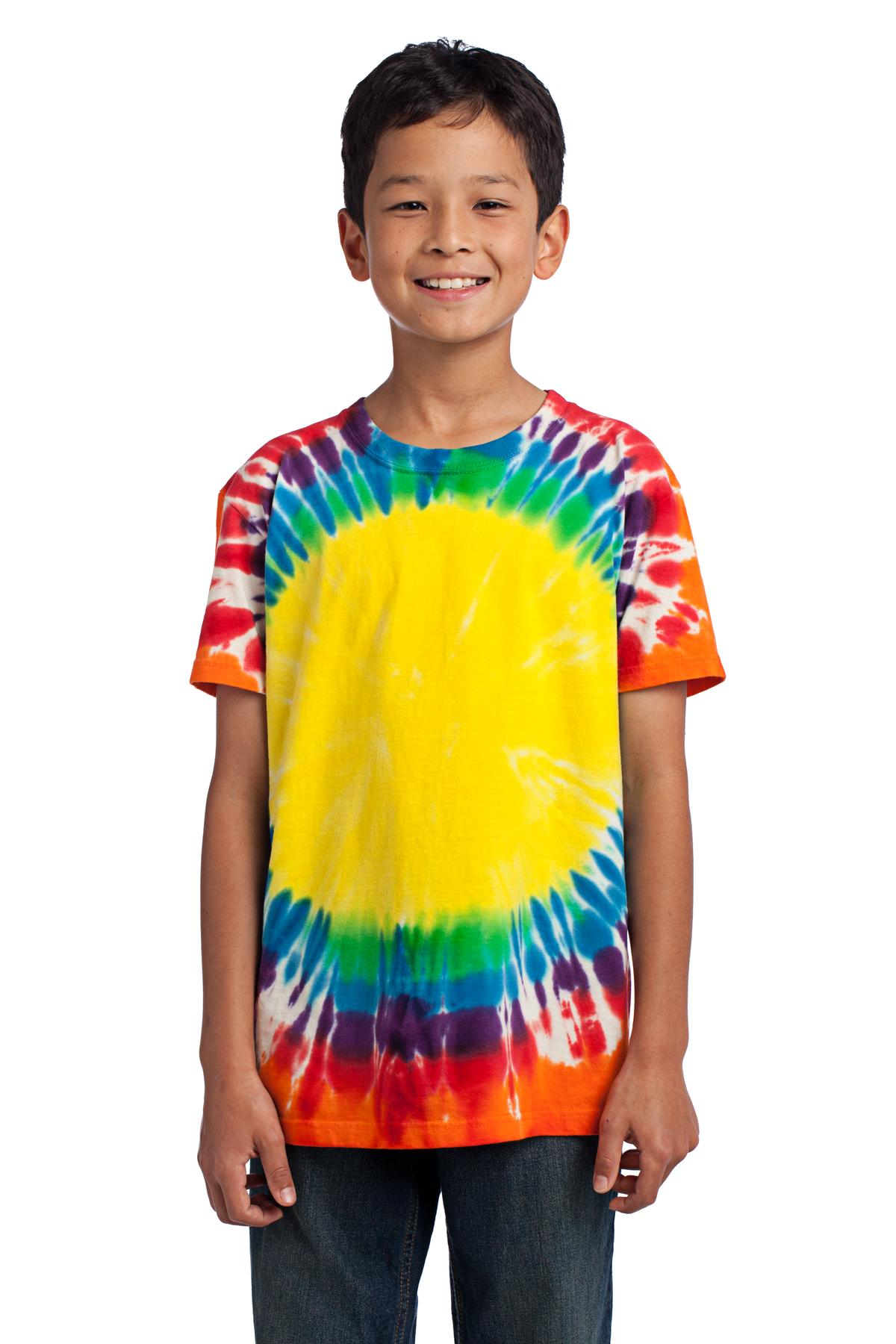 Port & Company ®  - Youth Window Tie-Dye Tee. PC149Y - Rainbow