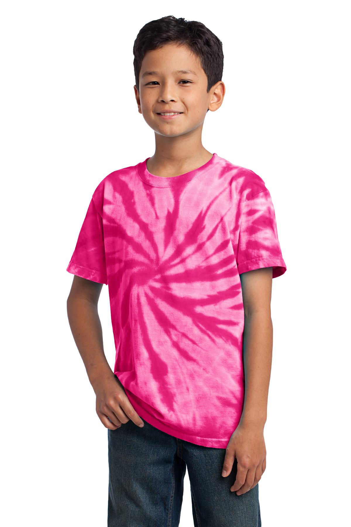 Port & Company ®  - Youth Tie-Dye Tee. PC147Y - Pink