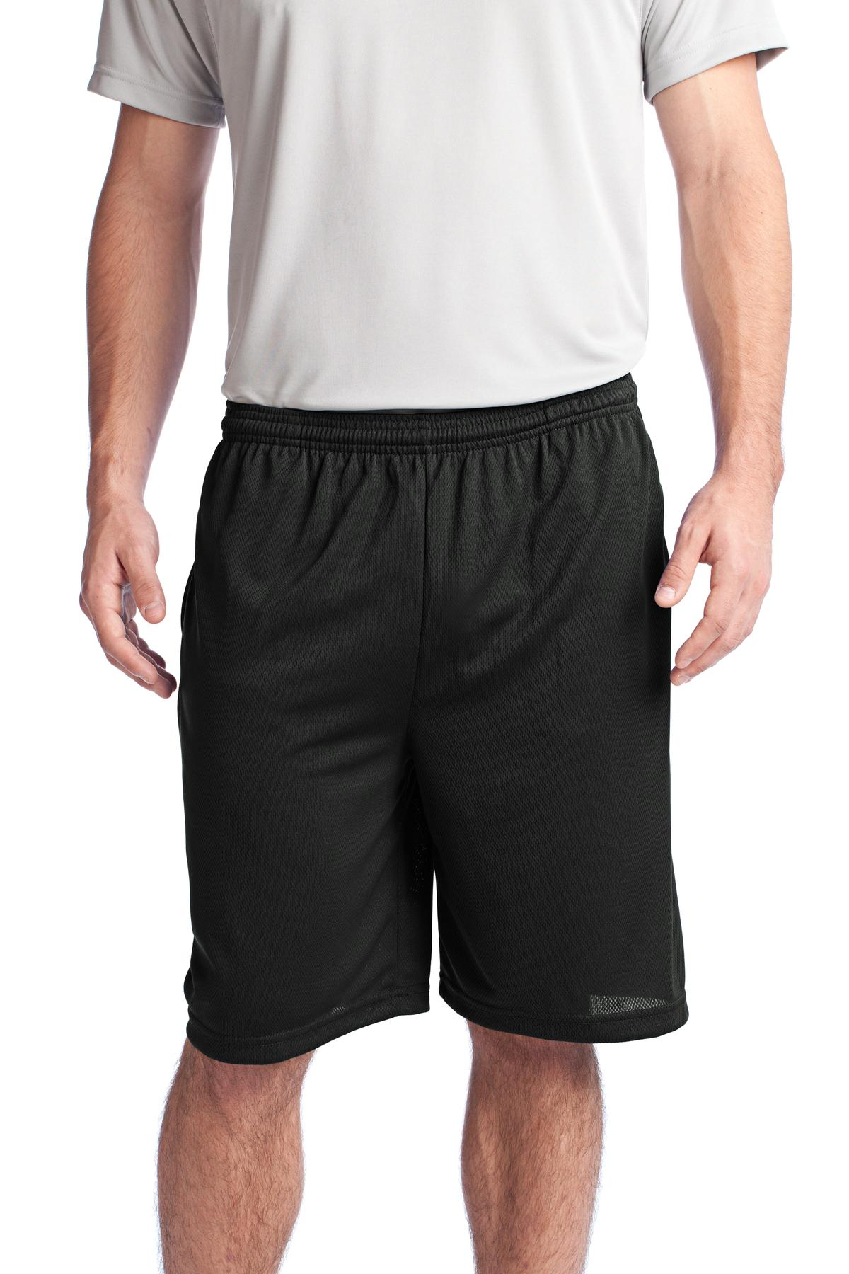 Sport-Tek ®  PosiCharge ®  Tough Mesh Pocket Short. ST312 - Black