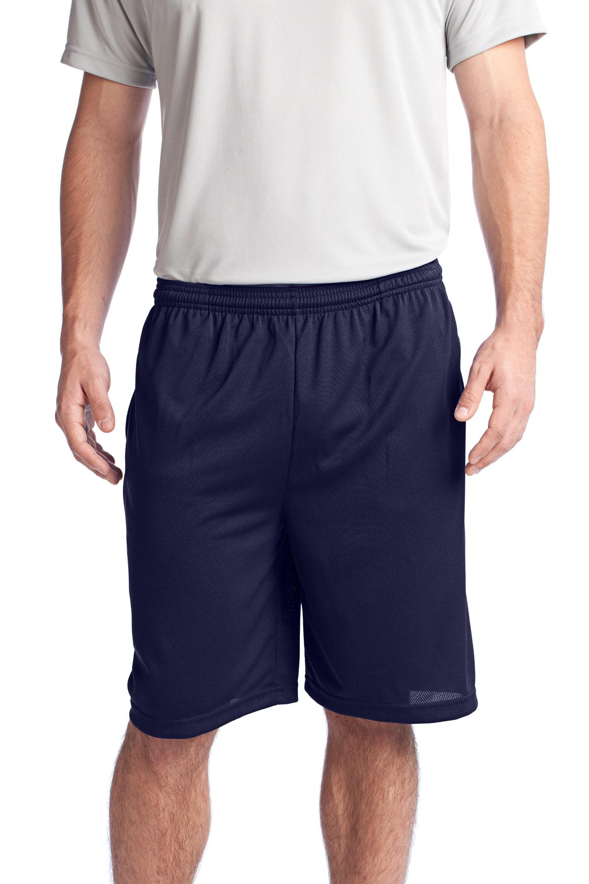 Sport-Tek ®  PosiCharge ®  Tough Mesh Pocket Short. ST312 - True Navy