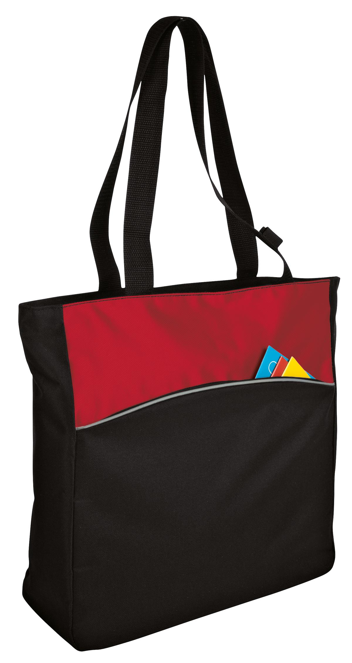 Port Authority ®  - Two-Tone Colorblock Tote. B1510 - Engine Red/ Black
