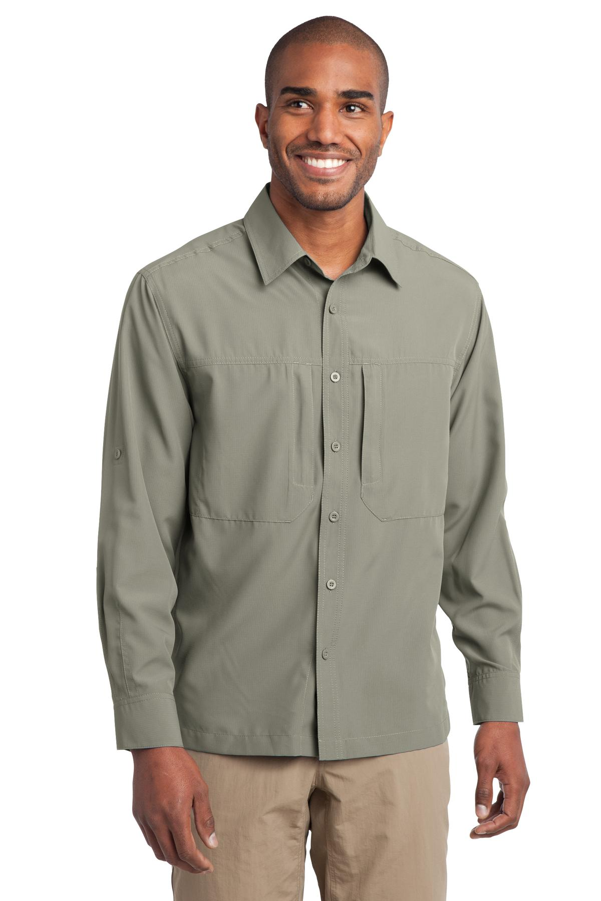 CLOSEOUT Eddie Bauer - Long Sleeve Performance Travel Shirt. EB604