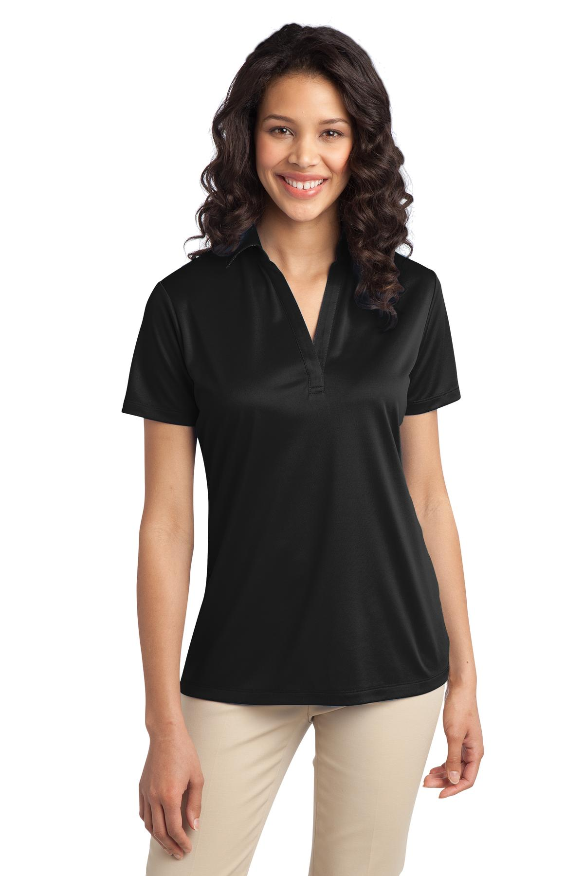 Port Authority ®  Ladies Silk Touch™ Performance Polo. L540 - Black