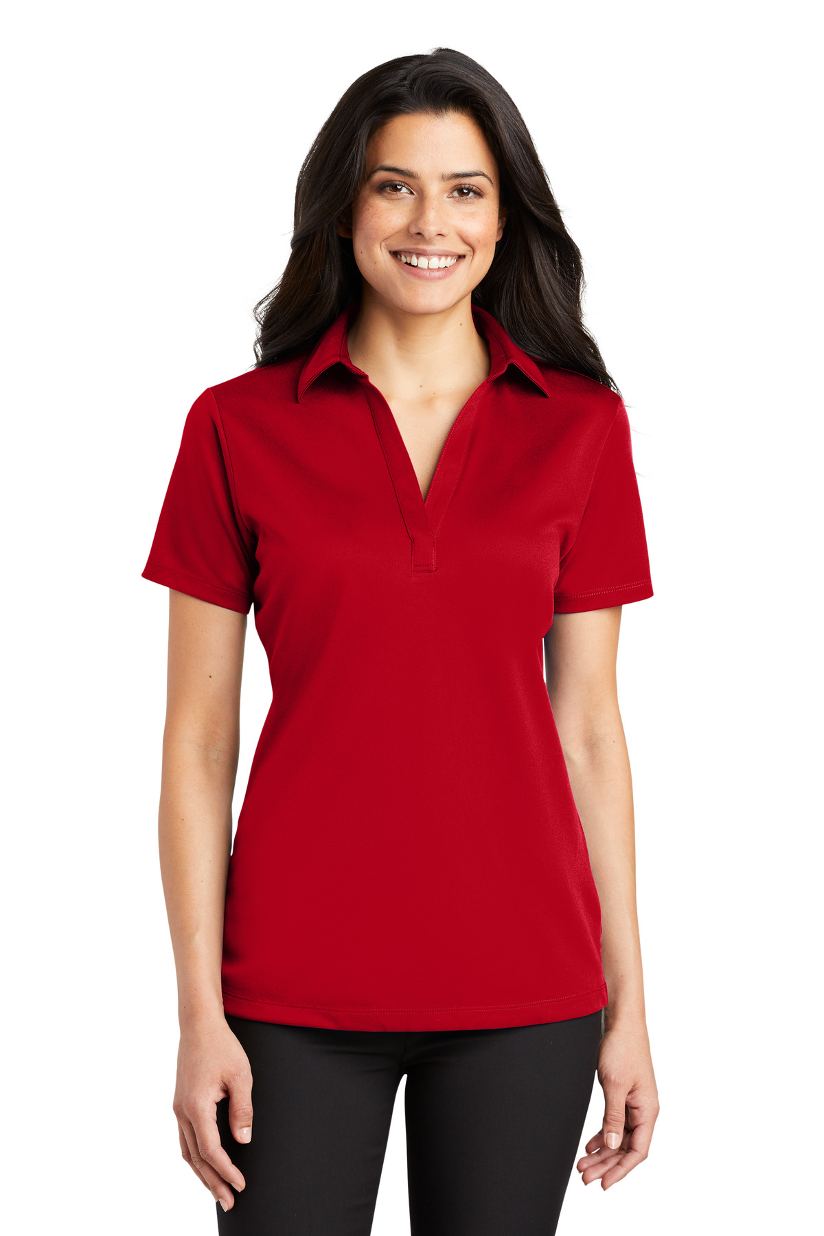 Port Authority ®  Ladies Silk Touch™ Performance Polo. L540 - Red