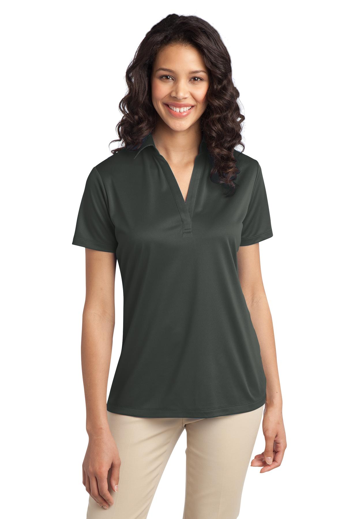 Port Authority ®  Ladies Silk Touch™ Performance Polo. L540 - Steel Grey