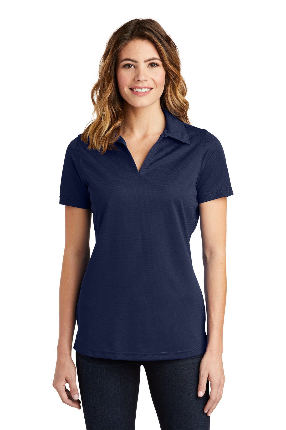 Sport-Tek ®  Ladies PosiCharge ®  Active Textured Polo. LST690 - True Navy
