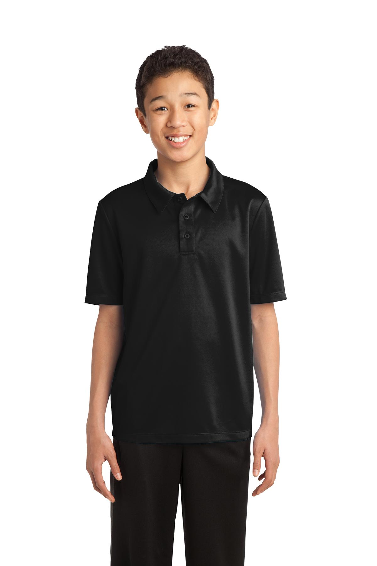 Port Authority ®  Youth Silk Touch™ Performance Polo. Y540 - Black