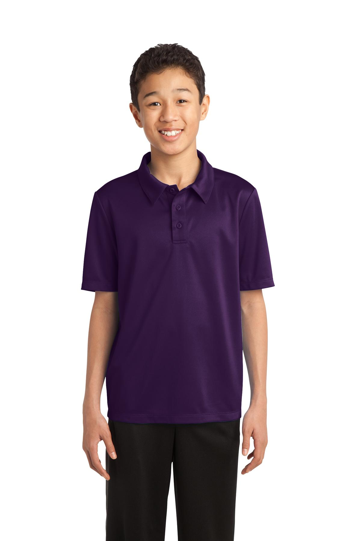 Port Authority ®  Youth Silk Touch™ Performance Polo. Y540 - Bright Purple