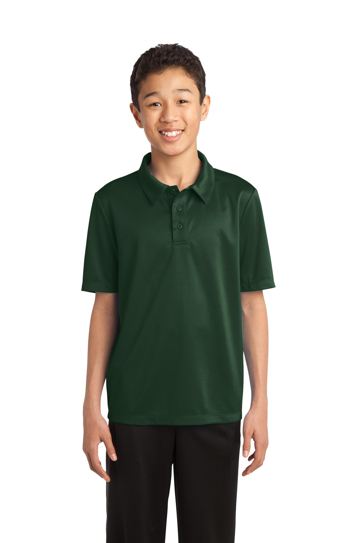 Port Authority ®  Youth Silk Touch™ Performance Polo. Y540 - Dark Green