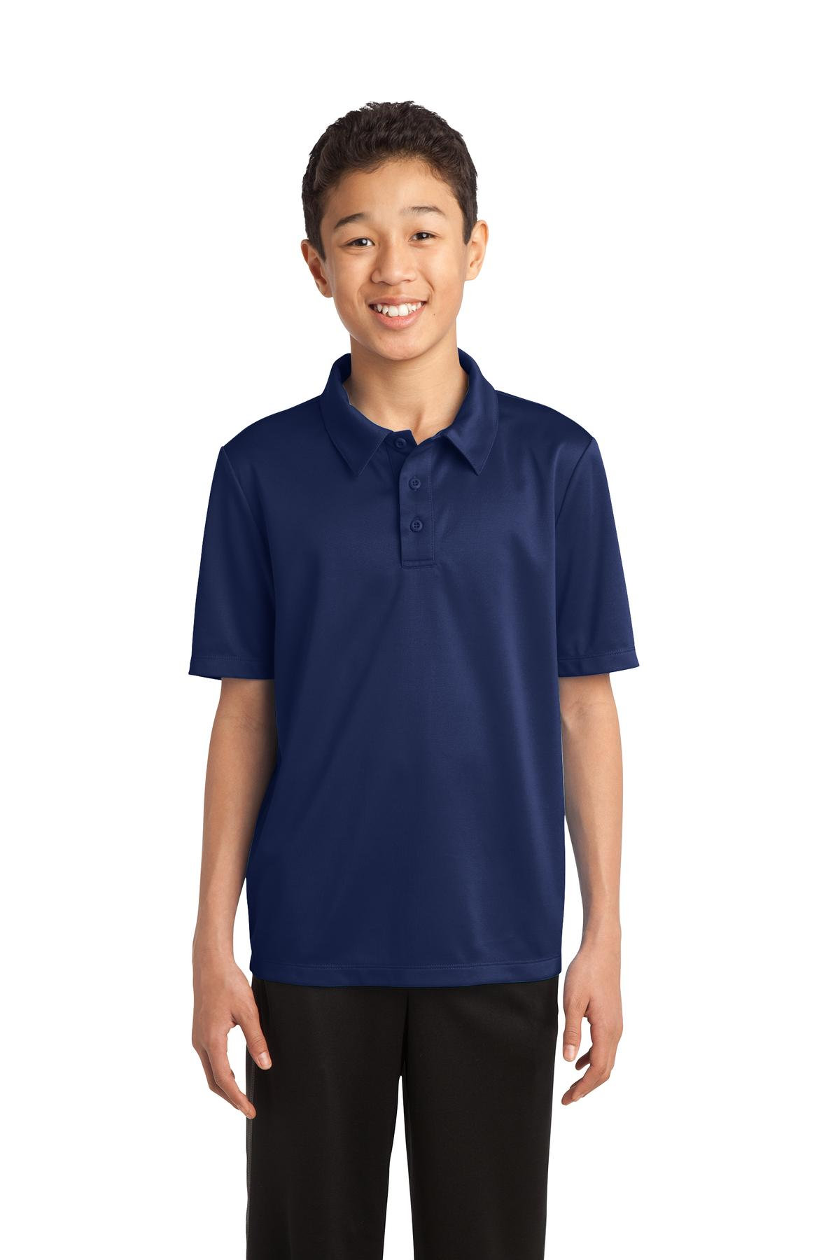 Port Authority ®  Youth Silk Touch™ Performance Polo. Y540 - Navy
