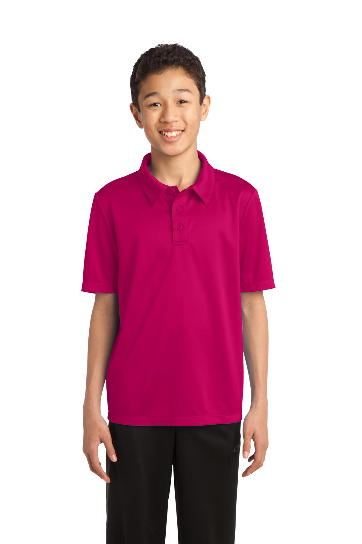 Port Authority ®  Youth Silk Touch™ Performance Polo. Y540 - Pink Raspberry