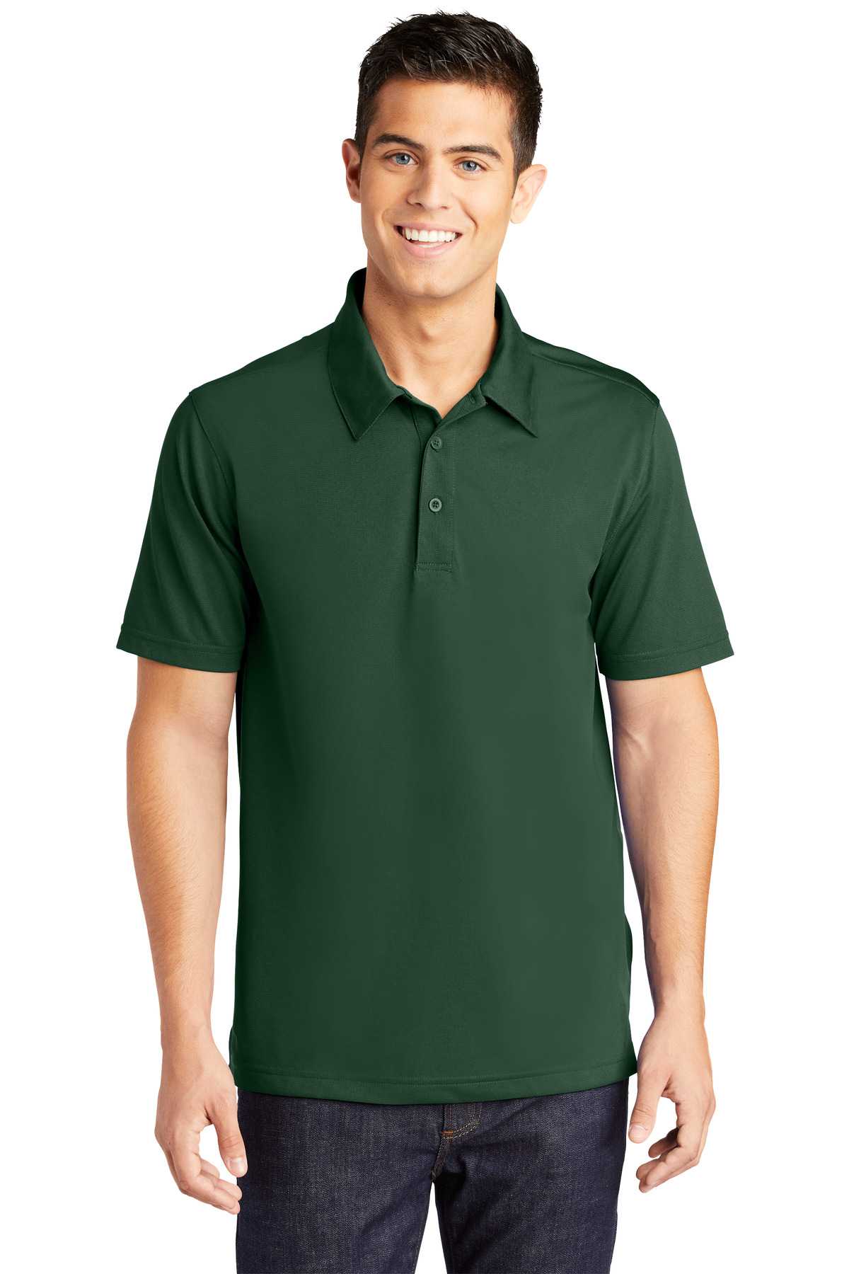 Sport-Tek ®  PosiCharge ®  Active Textured Polo. ST690 - Forest Green