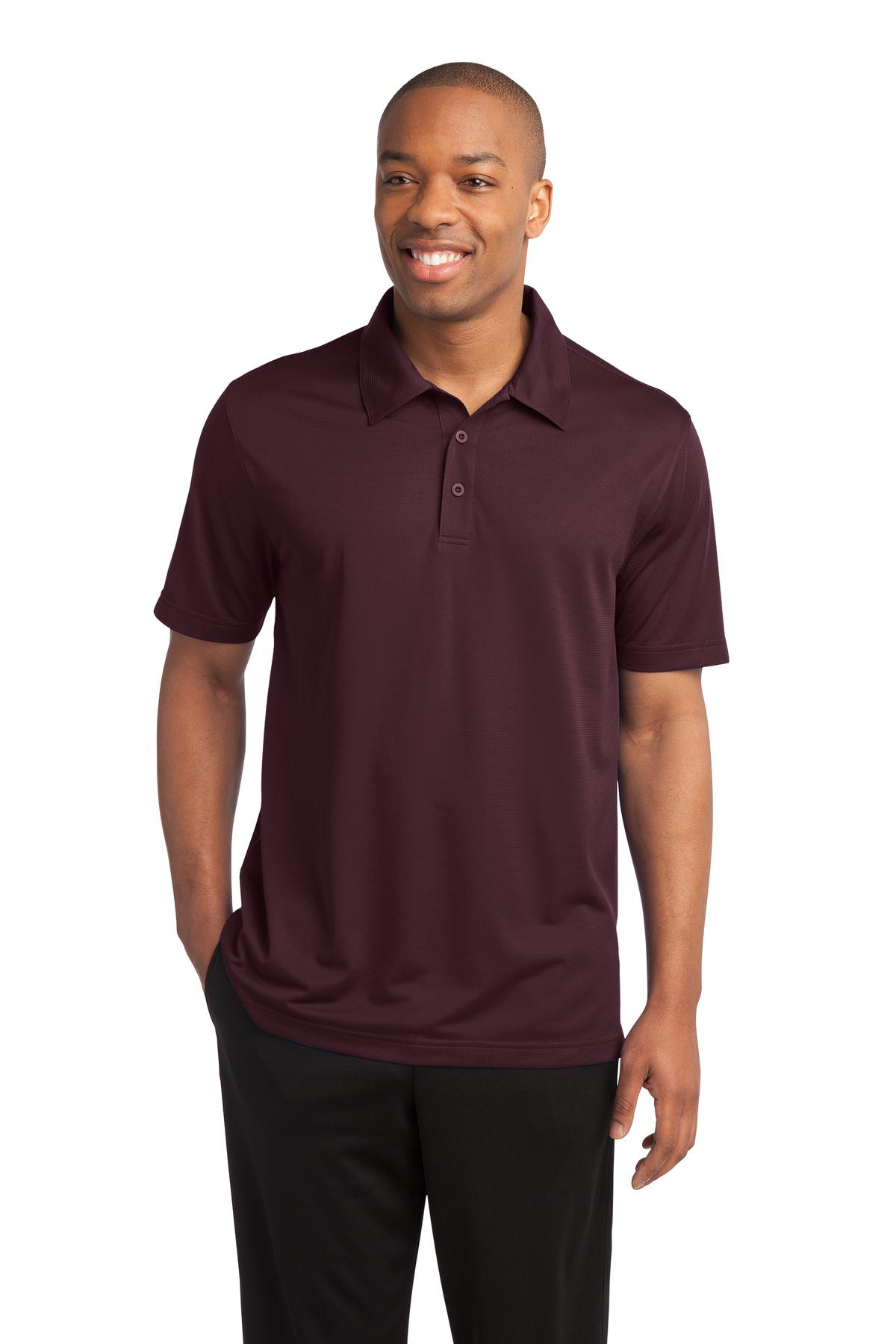 Sport-Tek ®  PosiCharge ®  Active Textured Polo. ST690 - Maroon