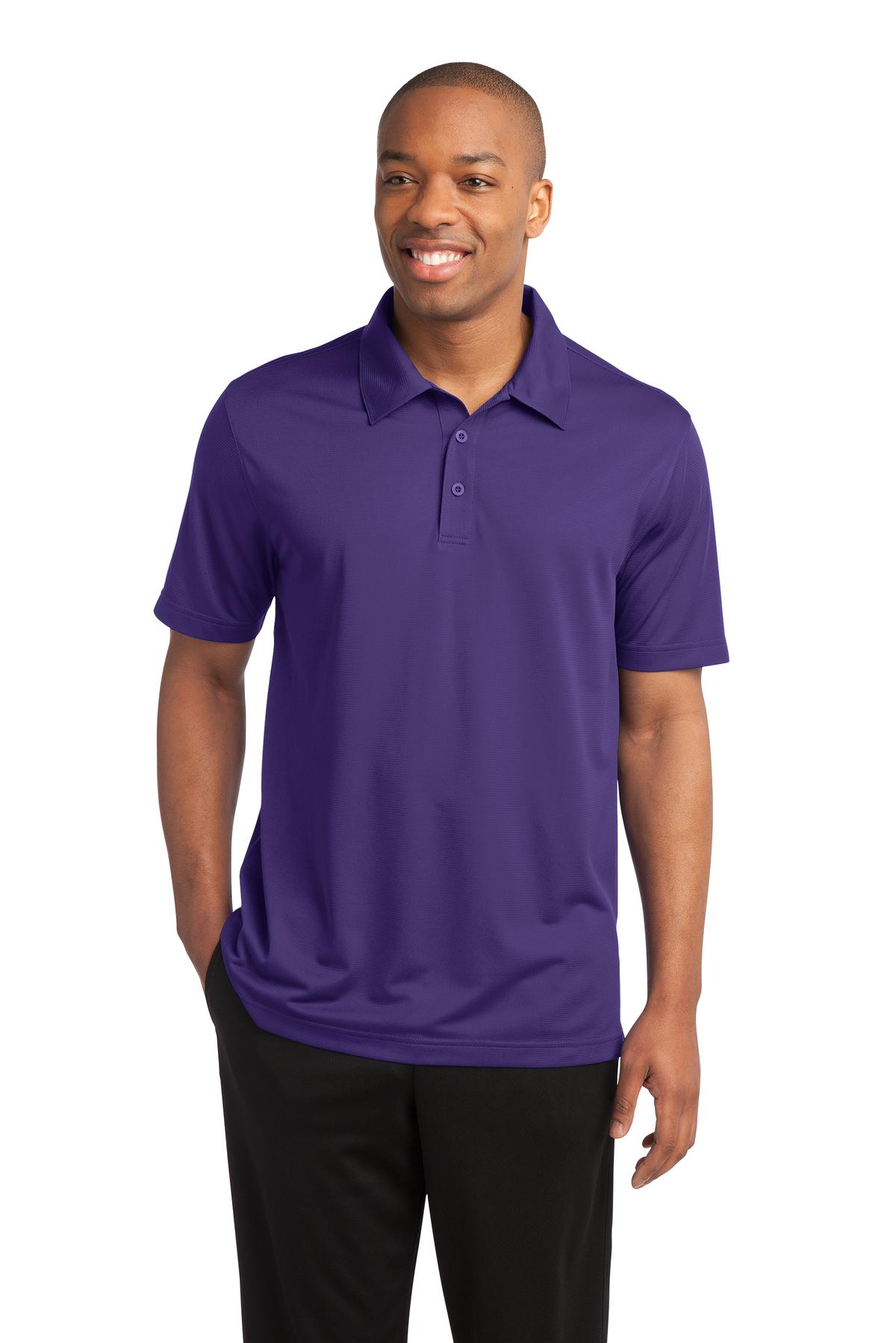 Sport-Tek ®  PosiCharge ®  Active Textured Polo. ST690 - Purple