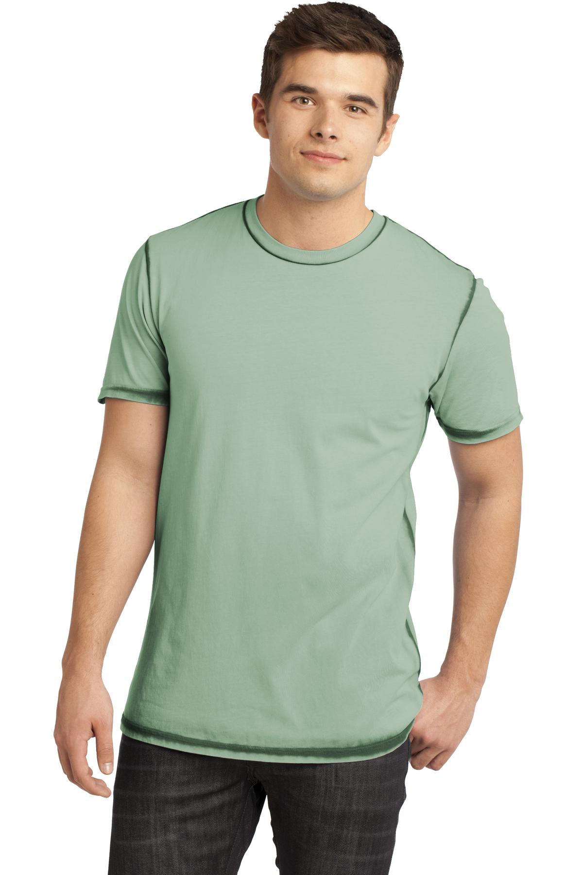 CLOSEOUT District - Young Mens Faded Crew Tee. DT1200
