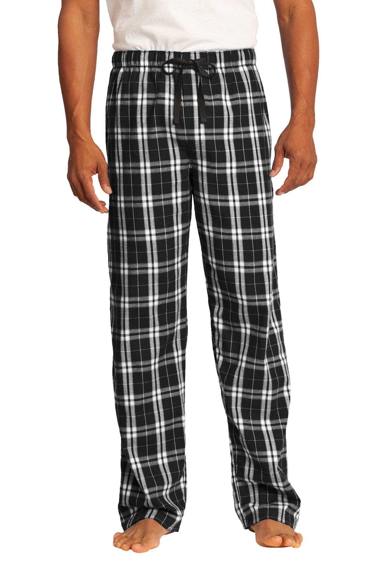 District ®  Flannel Plaid Pant. DT1800 - Black