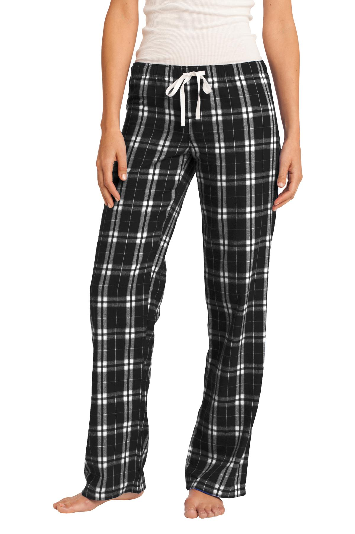 District ®  Women's Flannel Plaid Pant. DT2800 - Black