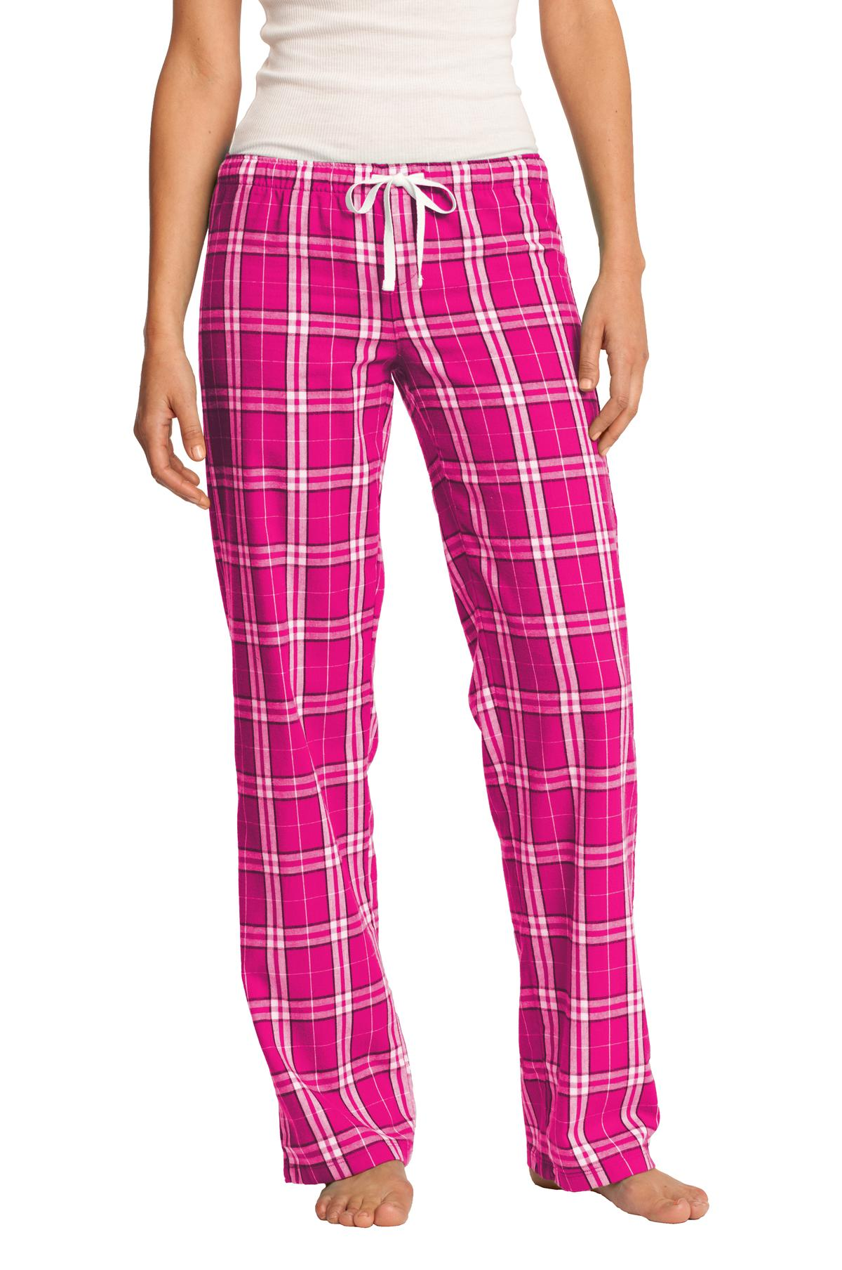 District ®  Women's Flannel Plaid Pant. DT2800 - Dark Fuchsia