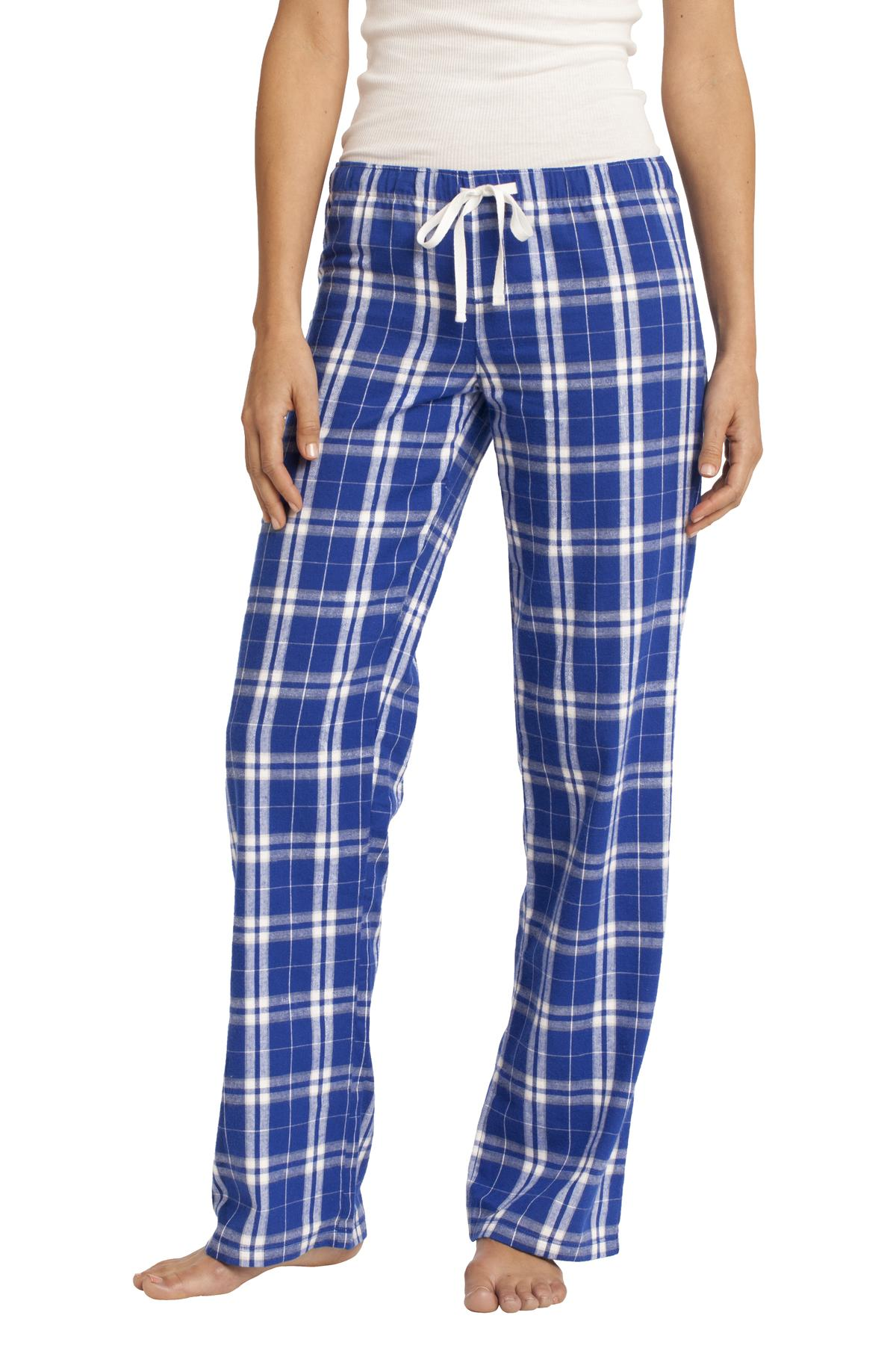 District ®  Women's Flannel Plaid Pant. DT2800 - Deep Royal