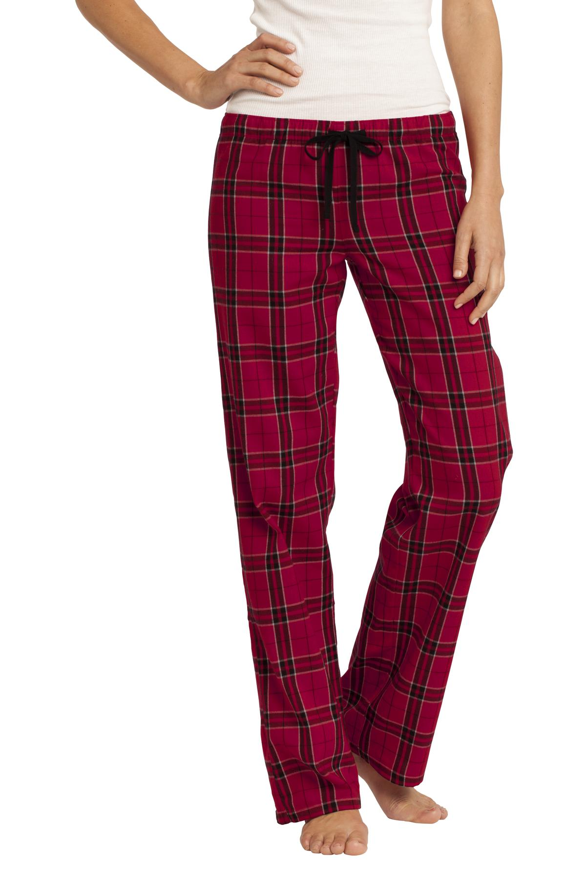 District ®  Women's Flannel Plaid Pant. DT2800 - New Red