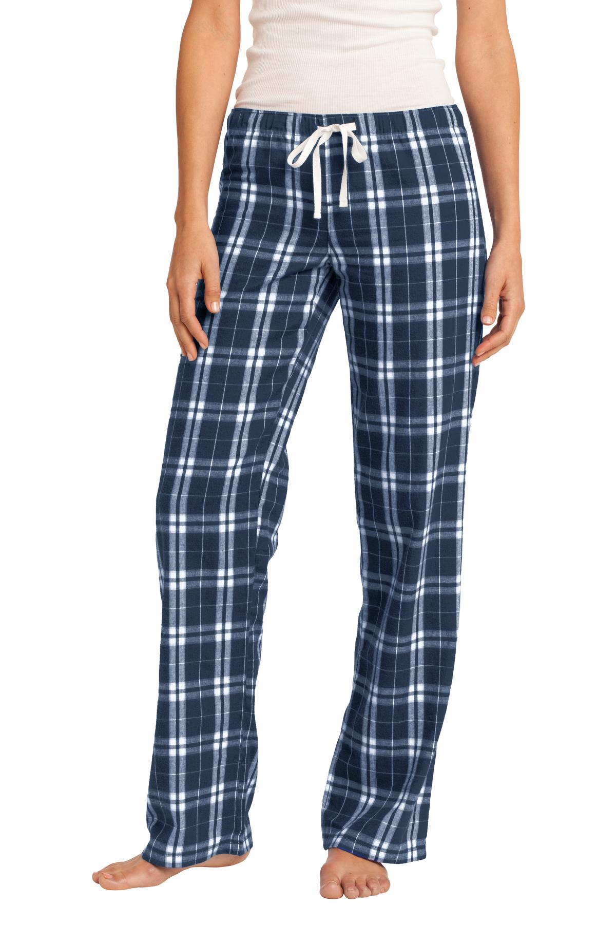 District ®  Women's Flannel Plaid Pant. DT2800 - True Navy