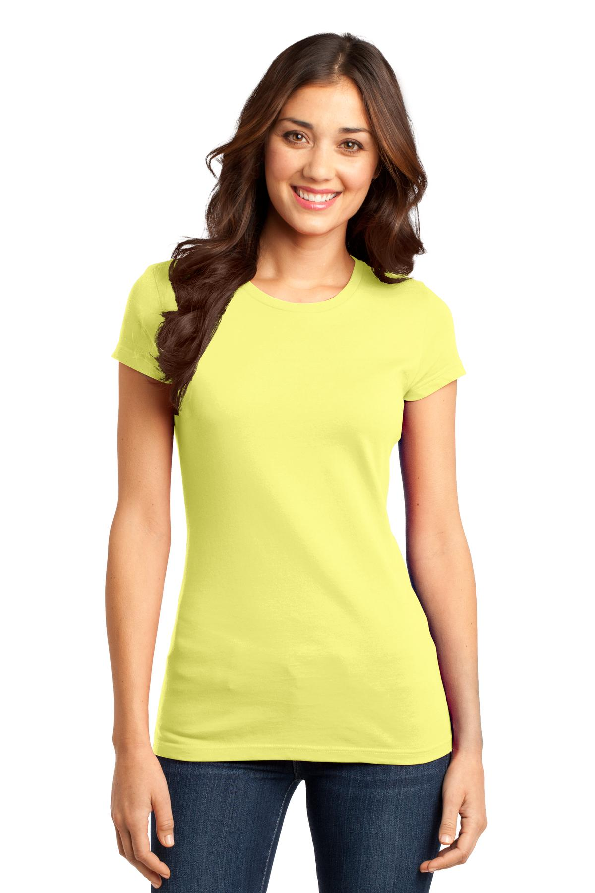 District ®  Women's Fitted Very Important Tee ® . DT6001 - Lemon Yellow