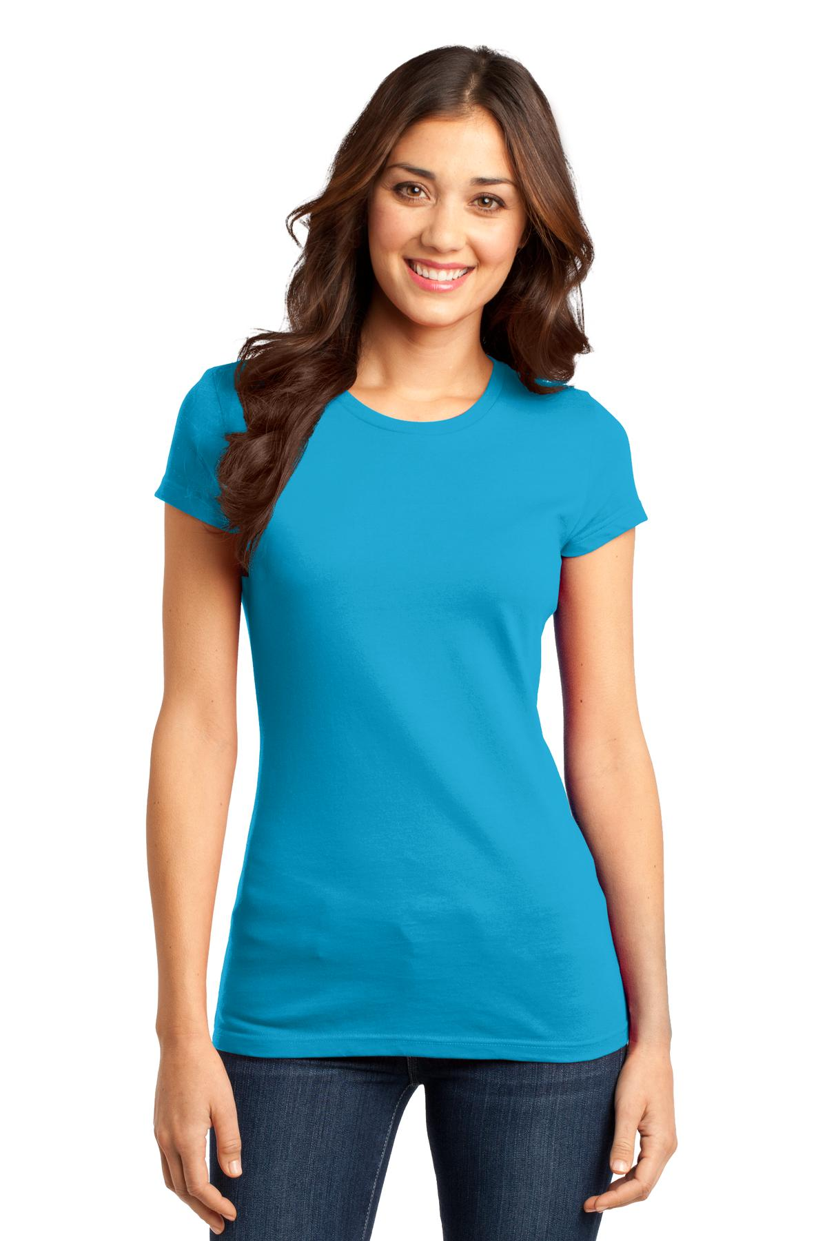 District ®  Women's Fitted Very Important Tee ® . DT6001 - Light Turquoise