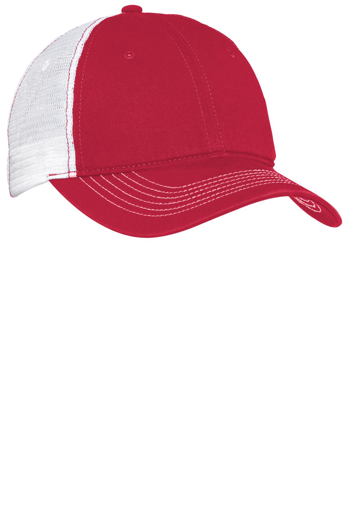 District ®  Mesh Back Cap. DT607 - Red/ White