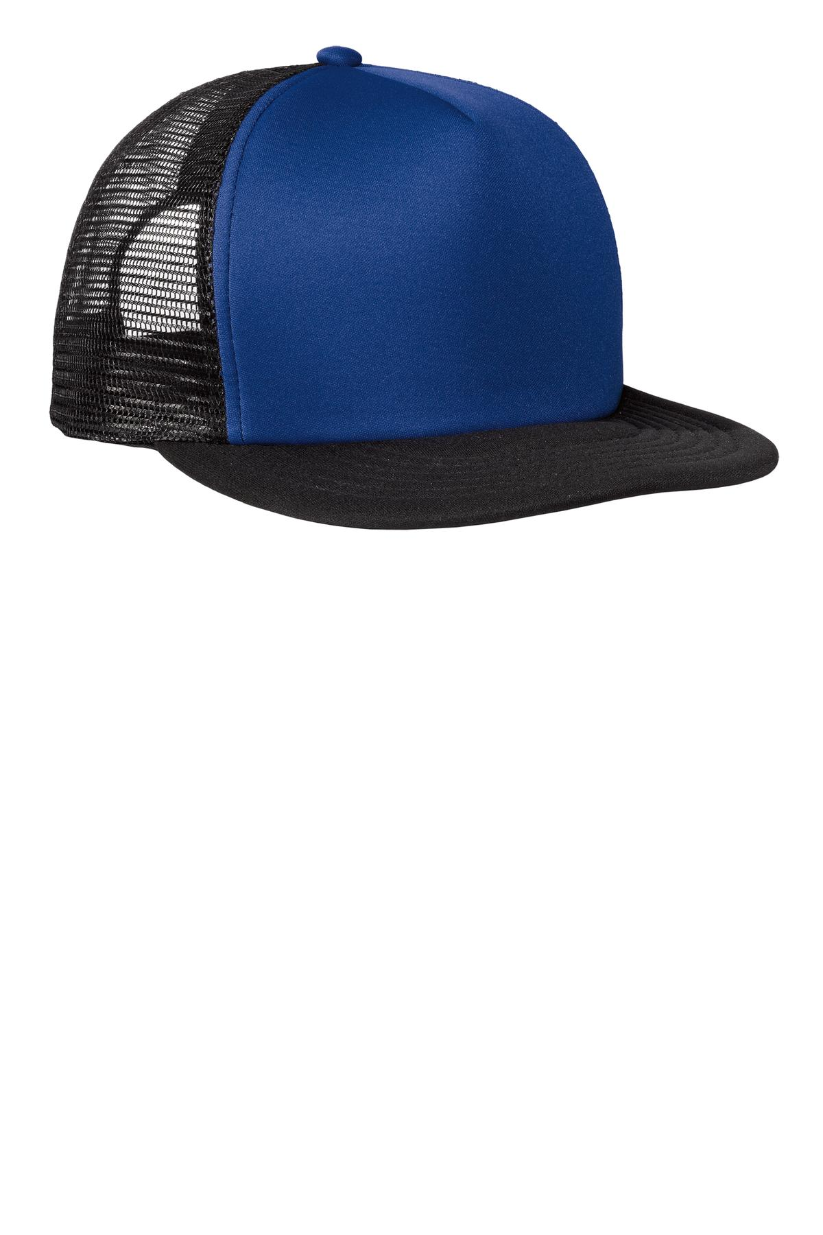 District ®  Flat Bill Snapback Trucker Cap. DT624 - Royal