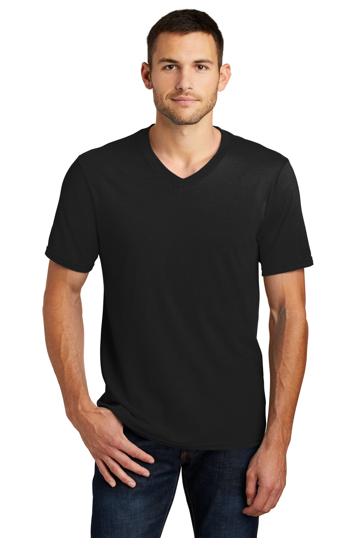 District ®  Very Important Tee ®  V-Neck. DT6500 - Black