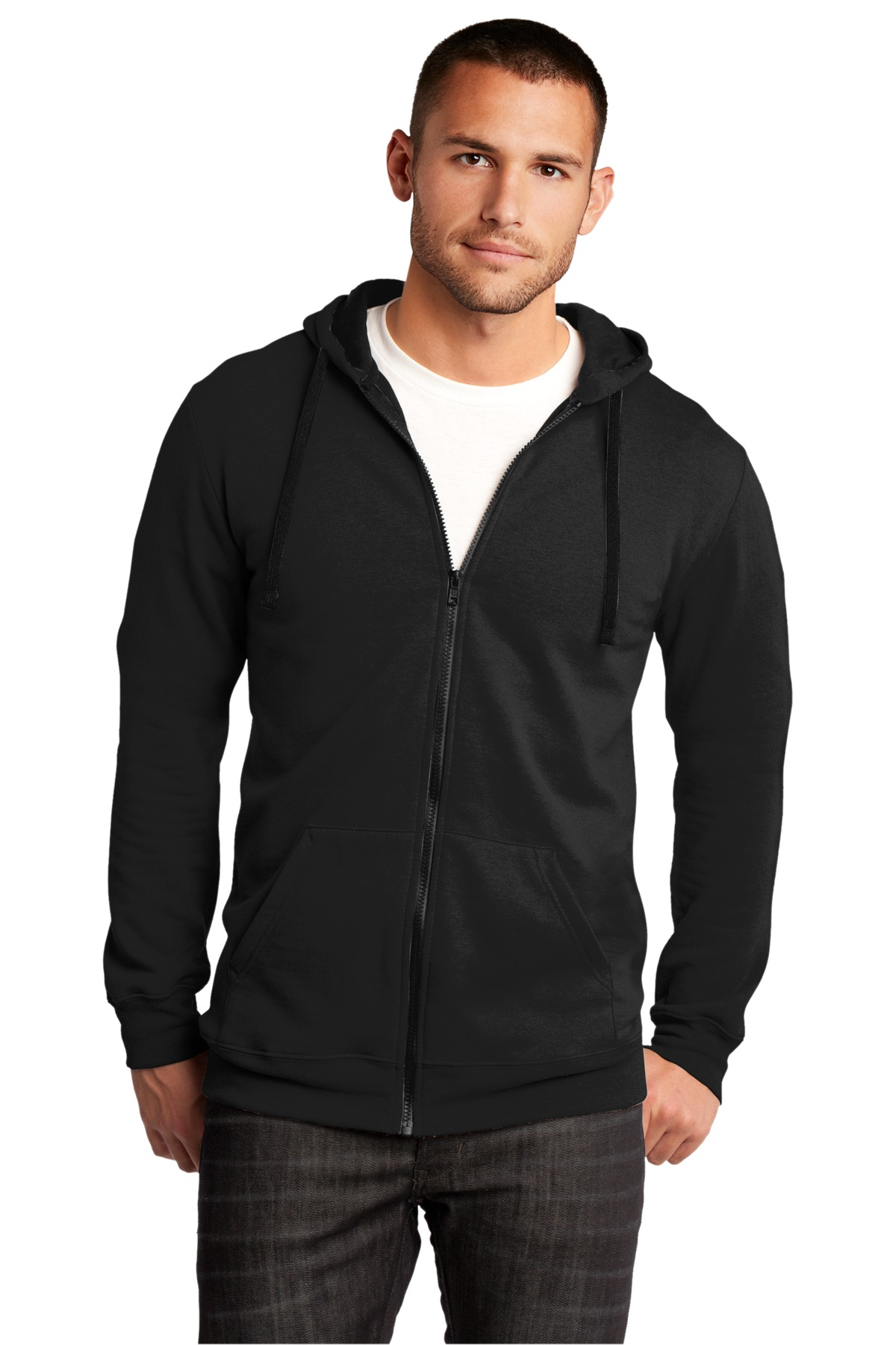 District ®  The Concert Fleece ®  Full-Zip Hoodie. DT800 - Black