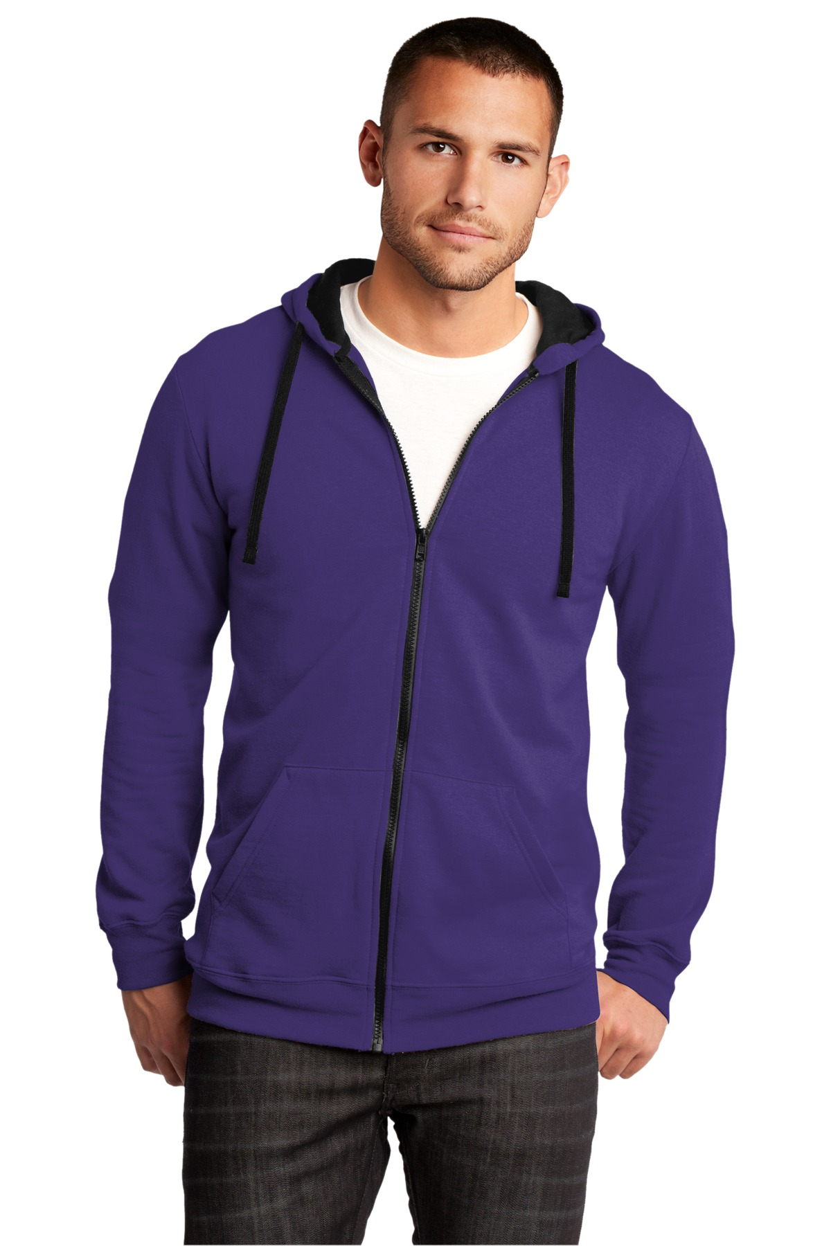 District ®  The Concert Fleece ®  Full-Zip Hoodie. DT800 - Purple