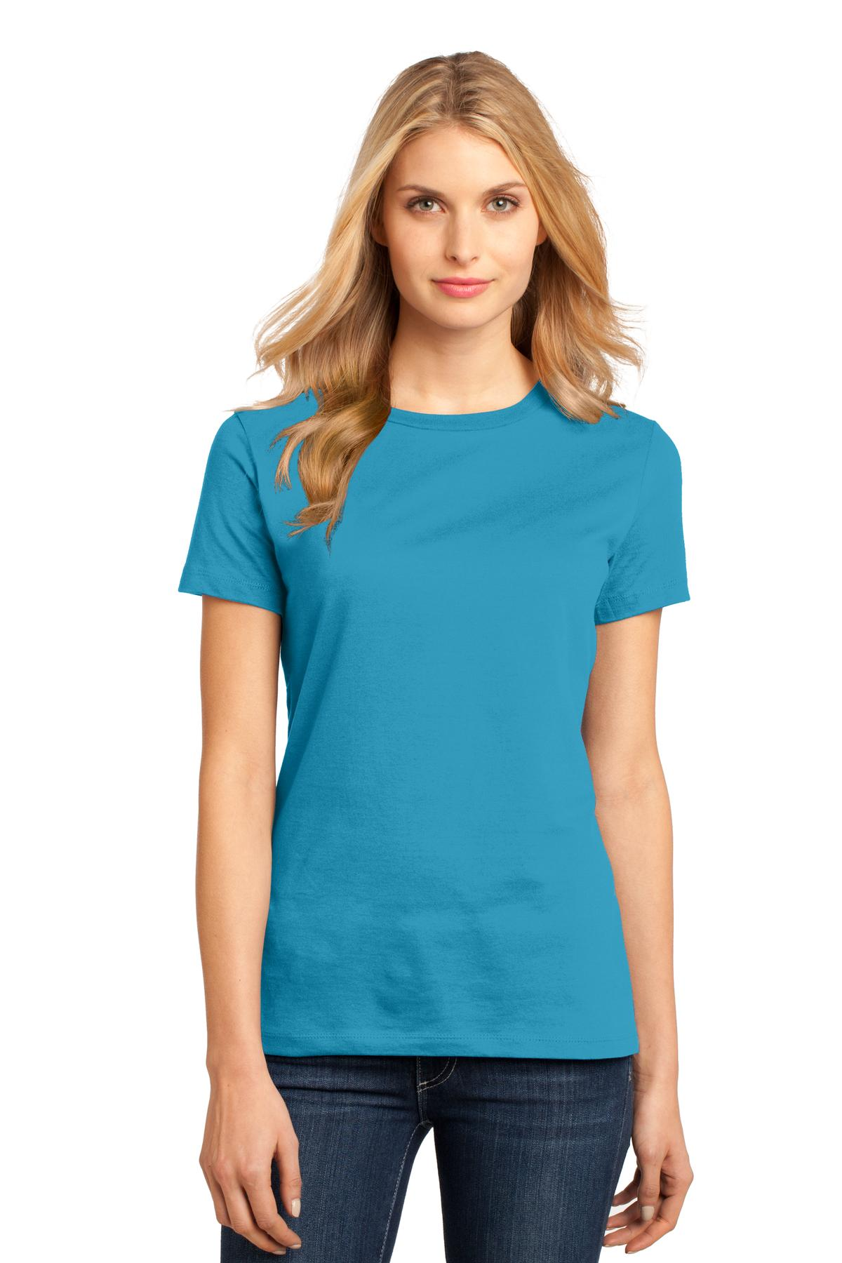 District ®  Women's Perfect Weight ® Tee. DM104L - Bright Turquoise