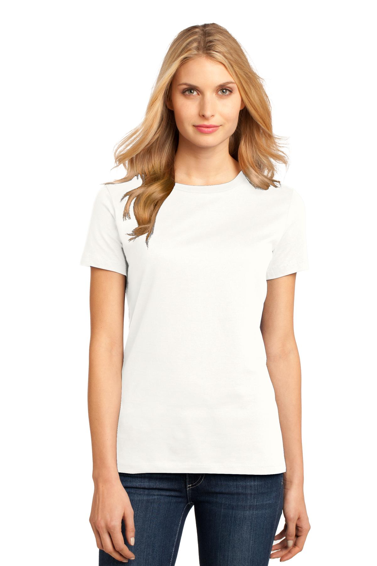 District ®  Women's Perfect Weight ® Tee. DM104L - Bright White