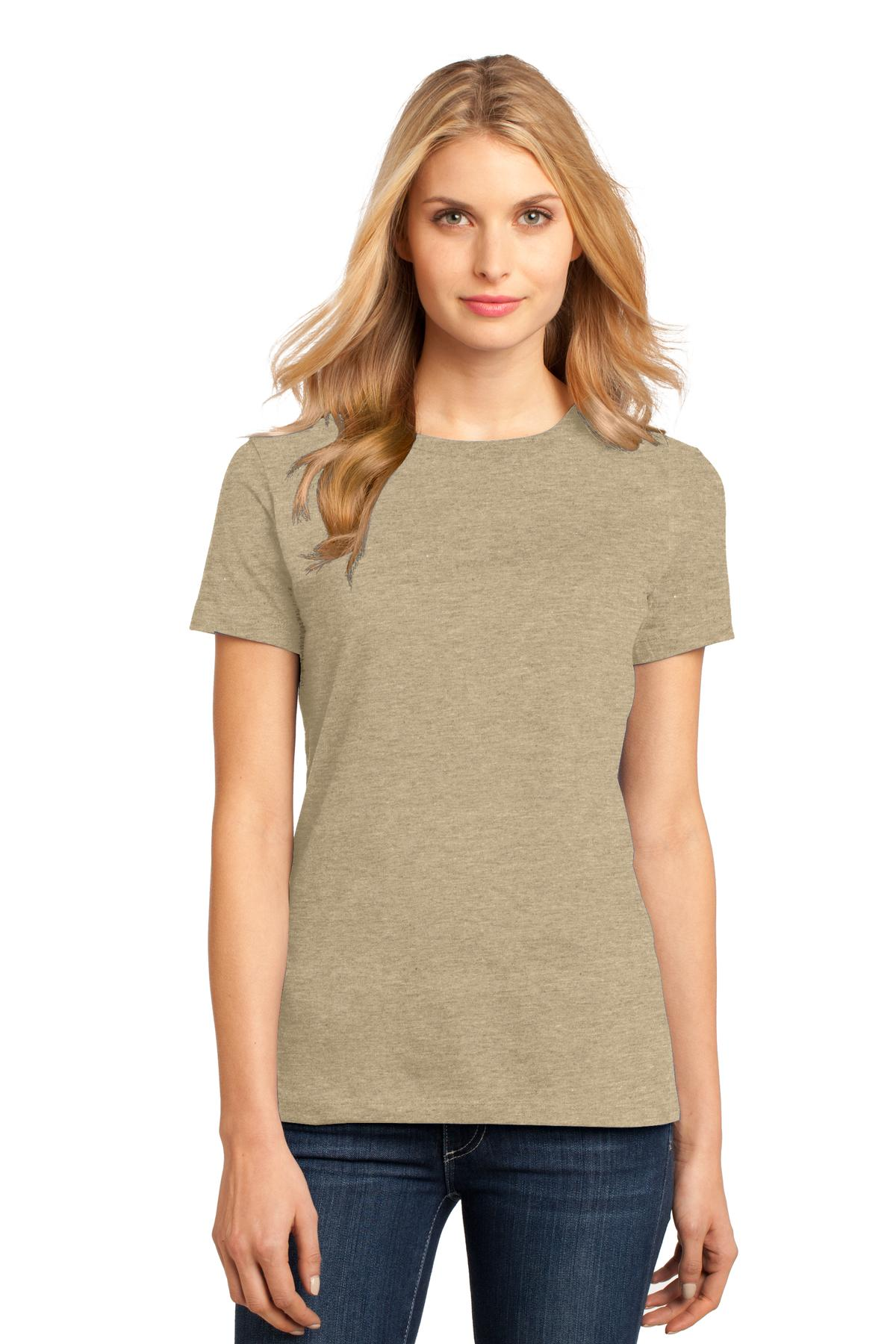 District ®  Women's Perfect Weight ® Tee. DM104L - Heathered Latte